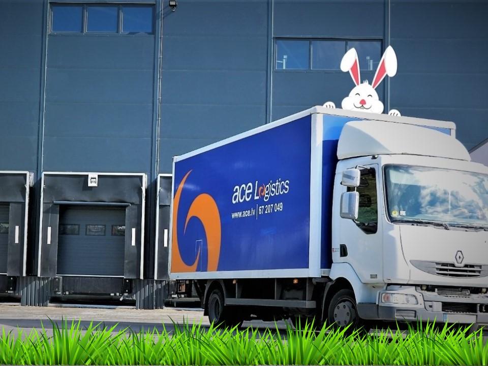 ACE Logistics Latvia automašīna, Lieldienu zaķis