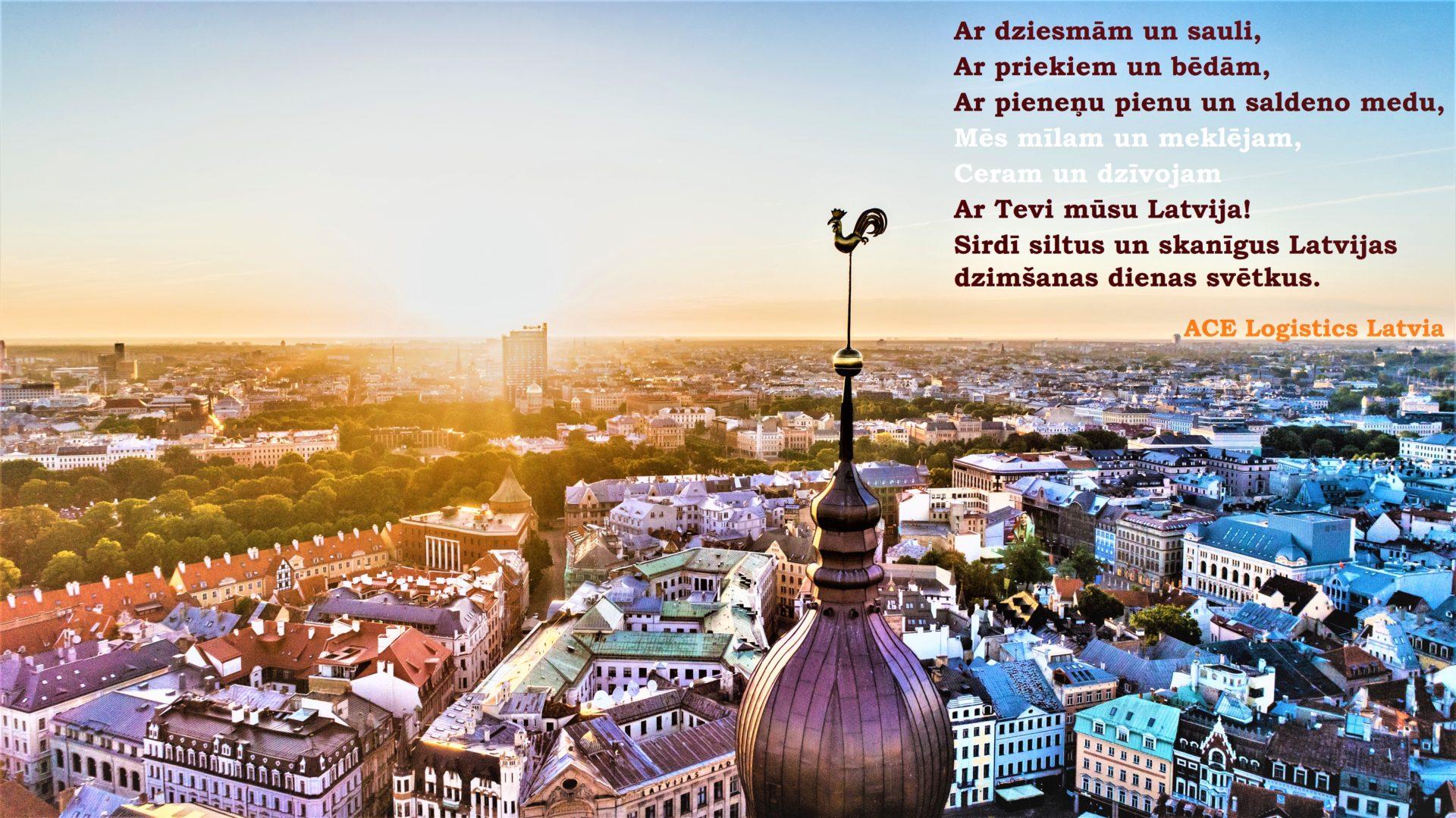 ace Logistics Latvia svieciens Latvijas 100 gadu jubilejā