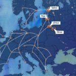 kravas pārvadājumu maršrutu karte, Eiropa
