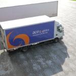 ACE Logistics kravas automašīna, kravas izkraušana