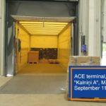 kravas konteinera sagatavošana kravas pārvešanai ACE Logistics terminālā